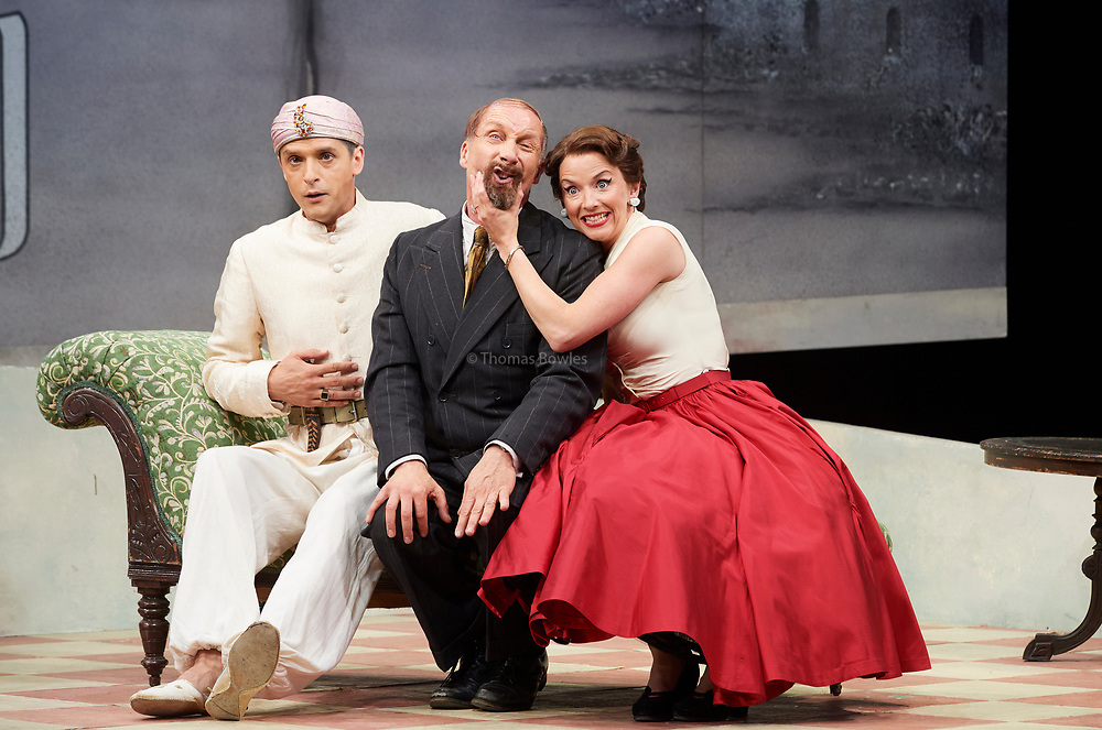 23nd June 2017.Il Turco in Italia, Rossini  at Garsignton Opera. <br /> <br /> Don Geronio - Geoffrey Dolton<br /> Fiorilla - Sarah Tynan<br /> Selim - Quirijn de Lang