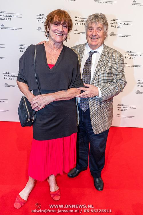 NLD/Amsterdam/20170320 - Onegin – Het Nationale Ballet premiere, Tonny Eyk en partner Liesbeth Vasbinder