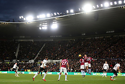 Derby County's (left) Harry Wilson takes a free-kick