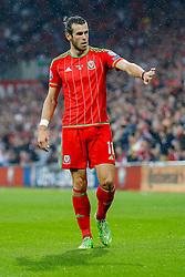 Gareth Bale of Wales (Real Madrid) - Photo mandatory by-line: Rogan Thomson/JMP - 07966 386802 - 12/06/2015 - SPORT - FOOTBALL - Cardiff, Wales - Cardiff City Stadium - Wales v Belgium - EURO 2016 Qualifier.