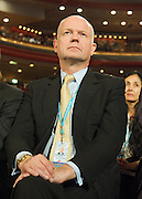 Conservative Party Conference, ICC, Birmingham, Great Britain <br /> Day 2<br /> 8th October 2012 <br /> <br /> Rt Hon George Osborne MP <br /> <br /> Chancellor of the Exchequer keynote speech <br /> <br /> William Hague watching speech <br /> <br /> <br /> Photograph by Elliott Franks<br /> <br /> <br /> Tel 07802 537 220 <br /> elliott@elliottfranks.com<br /> <br /> ©2012 Elliott Franks<br /> Agency space rates apply