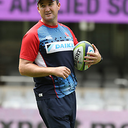 Chris Malone (Assistant Coach) of the NSW Waratahs during the NSW Waratahs Cap Run at  Growthpoint Kings Park Durban , South Africa. March 9th 2017(Photo by Steve Haag)<br /> <br /> images for social media must have consent from Steve Haag