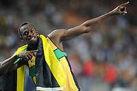ATHLETICS - IAAF WORLD CHAMPIONSHIPS 2011 - DAEGU (KOR) - DAY 8 - 03/09/2011 - MEN 200M FINAL - USAIN BOLT (JAM) / WINNER - PHOTO : FRANCK FAUGERE / KMSP / DPPI