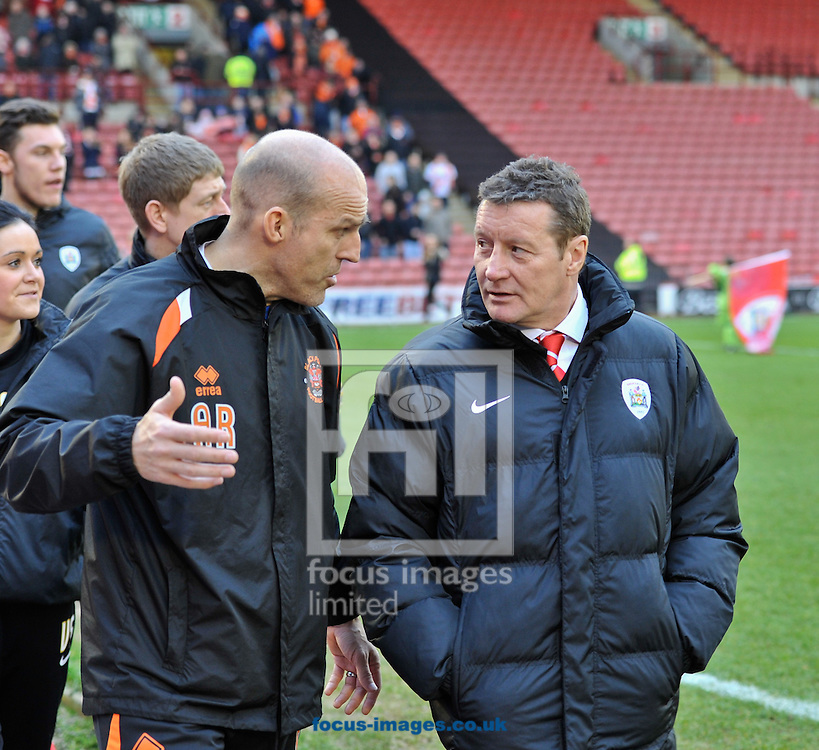 Picture by Richard Land/Focus Images Ltd +44 7713 507003<br /> 18/01/2014<br /> <br /> Danny Wilson Manager of Barnsley (R) during the Sky Bet Championship match at Oakwell, Barnsley.
