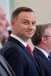 June 12, 2017 - Warsaw, Poland - President of Poland Andrzej Duda at Presidential Palace in Warsaw, Poland on 12 June 2017  (Credit Image: © Mateusz Wlodarczyk/NurPhoto via ZUMA Press)
