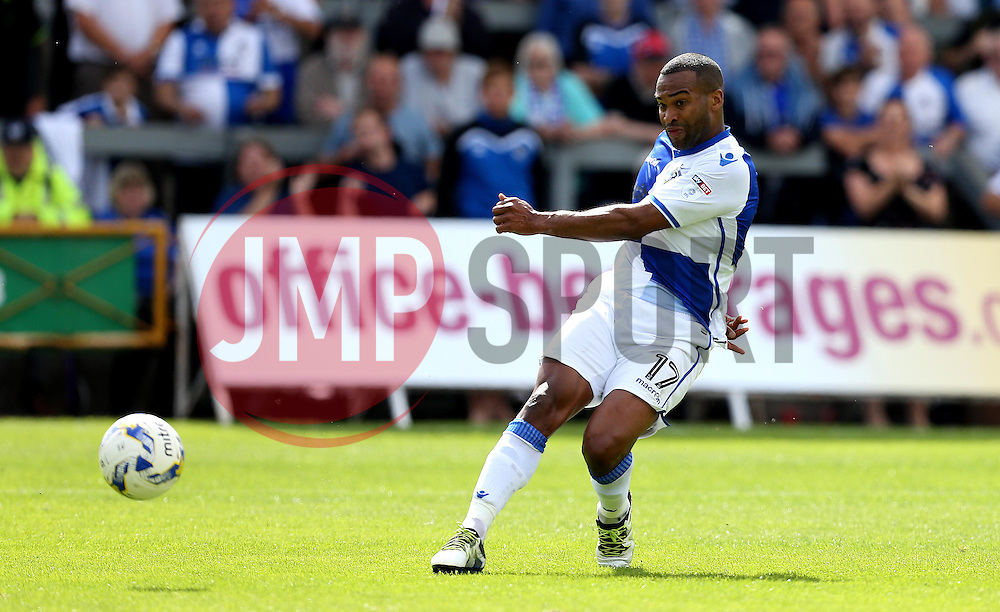 Jermaine Easter of Bristol Rovers scores the opening goal against Oxford United - Mandatory by-line: Robbie Stephenson/JMP - 14/08/2016 - FOOTBALL - Memorial Stadium - Bristol, England - Bristol Rovers v Oxford United - Sky Bet League One