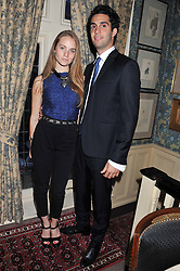 PETRA PALUMBO and SAL LAHOUD at a dinner hosted by Edward Taylor and Alexandra Meyers in association with Johnnie Walker Blue Label held at Mark's Club, 46 Charles Street, London W1 on 26th April 2012.