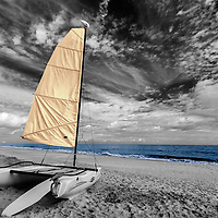Infrared ocean side catamaran color