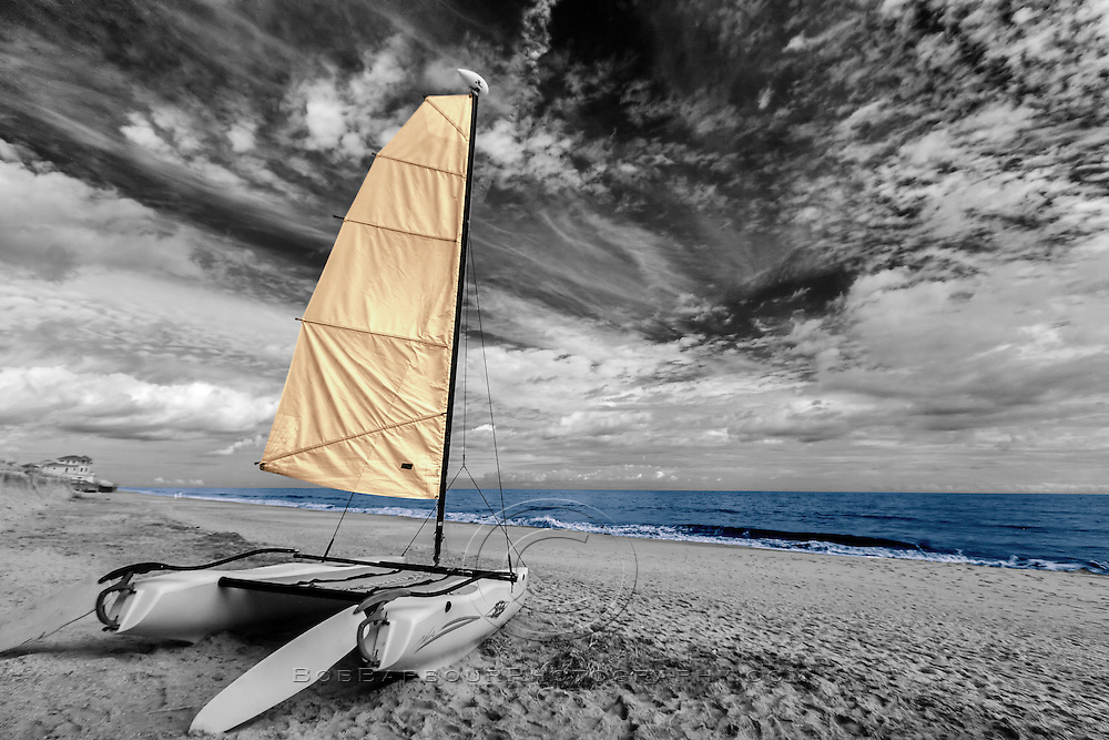 Infrared ocean side catamaran color