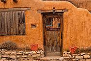 Santa Fe, New Mexico, Canyon Road, adobe house