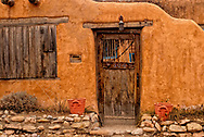 Santa Fe, New Mexico, Canyon Road, adobe house