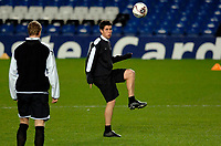 Photo: Daniel Hambury.<br />Chelsea Training Session. 05/12/2005.<br />Aser Del Horno passes the ball during training ahead of tomorrows Champions League game against Liverpool.