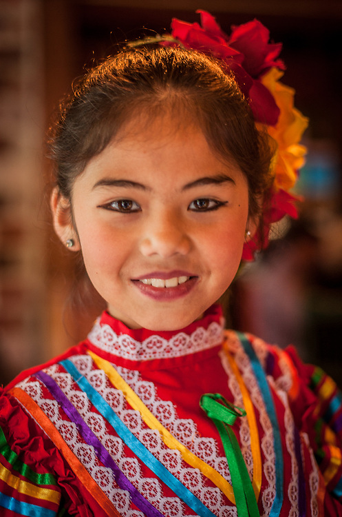 Eight year old Kimberly performs at the Cinco de Mayo celebration at Pacifico Restaurant in Calistoga