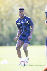 Falkirk's Botti Biabi. Falkirk FC training at Swansea's training pitches, before next weeks Cup Final.