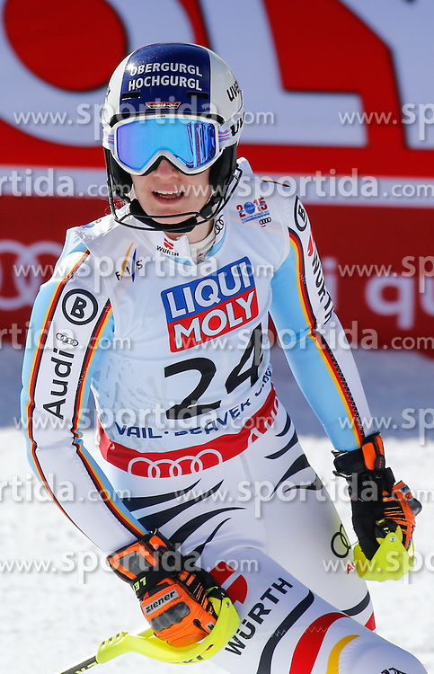 14.02.2015, Birds of Prey, Beaver Creek, USA, FIS Weltmeisterschaften Ski Alpin, Vail Beaver Creek 2015, Damen, Slalom, im Bild Lena Duerr (GER) // Lena Duerr of Germany reacts during the ladie's Slalom of FIS Ski World Championships 2015 at the Birds of Prey in Beaver Creek, United States on 2015/02/14. EXPA Pictures © 2015, PhotoCredit: EXPA/ SM<br /> <br /> *****ATTENTION - OUT of GER*****