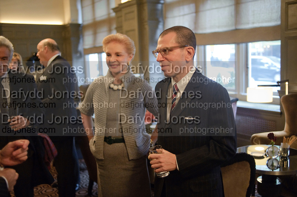 CAROLINA HERRERA; JONATHAN NEWHOUSE, Graydon and Anna Carter host a lunch for Carolina Herrera to celebrate the ipening of her new shop on Mount St. .The Connaught. London. 20 January 2010