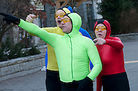 A theatresports company entertains visitors during the 2010 Olympic Winter Games in Whistler, BC Canada.