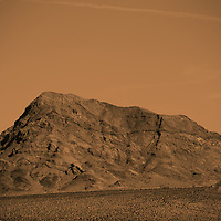 A rough mountain in the Mojave Desert near Death Valley Junction.