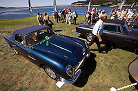 PEBBLE BEACH, CA - AUGUST 19: A 1966 Aston Martin Short Chassis Volante at the 2007 Pebble Beach Concours d'Elegance on August 19, 2007 in Pebble Beach, California.  (Photo by David Paul Morris)