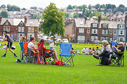 © Licensed to London News Pictures. 20/06/2020. Sheffield , UK.  A family having a picnic at Endcliffe Park, Sheffield. Photo credit: Ioannis Alexopoulos/LNP