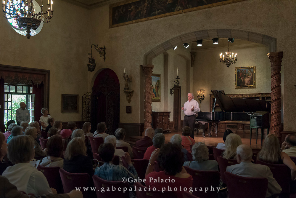 Andrew Tyson, piano, performing a Wednesday Morning Concert in the Music Room of the Rosen House at Caramoor in Katonah New York on September 13, 2017. <br /> (photo by Gabe Palacio)
