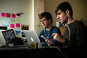 SAN FRANCISCO, CA – JANUARY 13, 2016: Minerva college students participate in the Active Learning Forum, a web-based interactive classroom environment built for students by leading silicon valley software engineers.<br /> <br /> Minerva is a unique 21st century university built on a global four-year education model. It is deliberately designed to enhance intellectual growth and prepare students for success in today's rapidly changing global context. Founded in 2014, the university targets the developing world's rising middle class who seek an elite American education. With a 2.8% acceptance rate among the founding class, Minerva is the most selective undergraduate program in U.S. history.