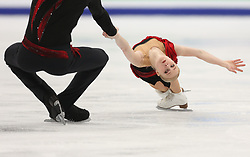 January 17, 2018 - Moscow, Russia - Evgenia Tarasova and Vladimir Morozov of Russia perform their short program in the pair competition at the 2018 ISU European Figure Skating Championships, at Megasport Arena in Moscow. (Credit Image: © Igor Russak/NurPhoto via ZUMA Press)