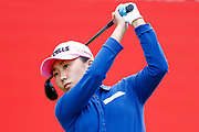 In-kyung Kim tees off from the 1st during the Ricoh Women's British Open golf tournament at Royal Lytham and St Annes Golf Club, Lytham Saint Annes, United Kingdom on 4 August 2018. Picture by Simon Davies.