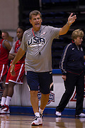 Head coach Geno Auriemma during the 2012 USA Women's Basketball team practice at Bender Arena  in Washington, DC.  July 15, 2012  (Photo by Mark W. Sutton)