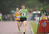 21 Aug 2016:  Ruarcon O'Gibne, from Meath, winning the Boys U16 1500m final.  2016 Community Games National Festival 2016.  Athlone Institute of Technology, Athlone, Co. Westmeath. Picture: Caroline Quinn