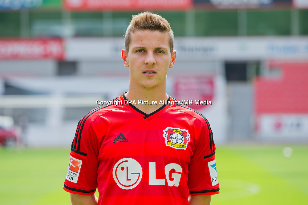 German Soccer Bundesliga - Photocall Bayer 04 Leverkusen on August 4th 2014: Maximilian Wagener.