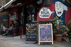 © licensed to London News Pictures. London, UK 15/03/2013. The Lord Nelson pub in Southwark, London starts to serve 100% horsemeat burgers to their customers. Photo credit: Tolga Akmen/LNP