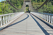 Old suspension Bridge in Pont Des Anglais, St. Anne, Reunion Island.