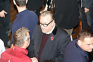 Picture by Alan Stanford/Focus Images Ltd +44 7915 056117<br /> 14/11/2013<br /> Actor Ray Winstone  pictured ringside before the cruiserweight contest at York Hall, Bethnal Green.