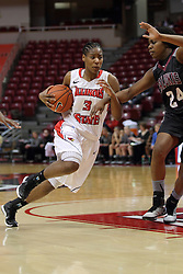 04 January 2015:  Octavia Crump during an NCAA MVC (Missouri Valley Conference) women's basketball game between the Southern Illinois Salukis and the Illinois Sate Redbirds at Redbird Arena in Normal IL