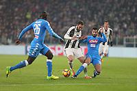 can - 28.02.2017 - Torino - Semifinale Coppa Italia   -  Juventus-Napoli nella  foto: Gonzalo Higuain