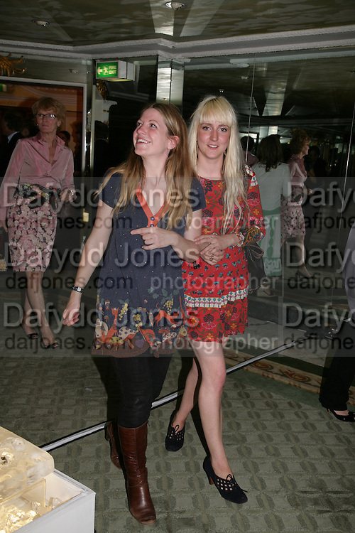 Rosie Short and Jenny Mustill, Beyond Belief-Damien Hirst. White Cube Hoxton and Mason's Yard.Party  afterwards at the Dorchester. Park Lane. 2 June 2007.  -DO NOT ARCHIVE-© Copyright Photograph by Dafydd Jones. 248 Clapham Rd. London SW9 0PZ. Tel 0207 820 0771. www.dafjones.com.