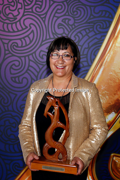 Mavis Mullins is presented with Maori Sports Administraor. Maori Sports Awards, Telstra Pacific Events Centre Manukau, Saturday 24th November 2012. Photo: Shane Wenzlick / Photosport.co.nz
