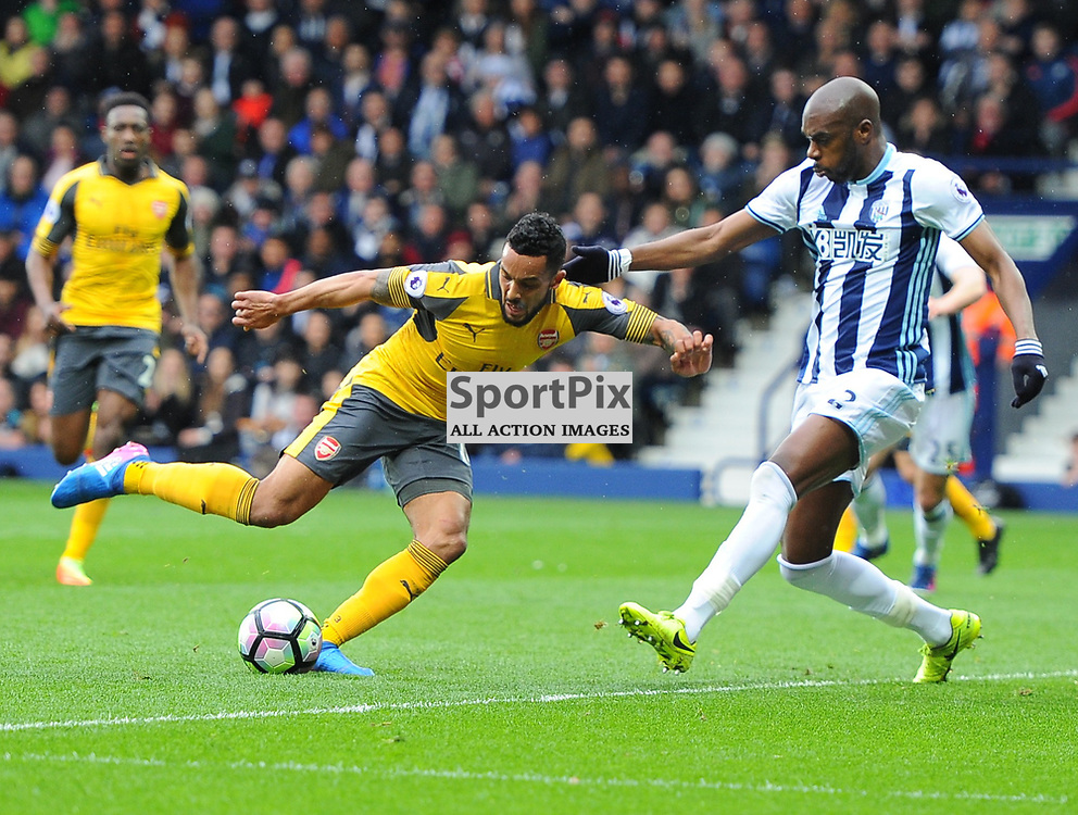 Theo Walcott of Arsenal takes a shot during West Bromwich Albion vs Arsenal, Premier League , 18.03.17 (c) Harriet Lander | SportPix.org.uk