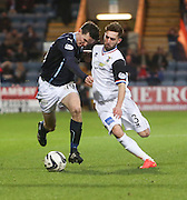 Dundee's Paul McGinn runs at Inverness' Graeme Shinnie  - Dundee v Inverness Caledonian Thistle, SPFL Premiership at Dens Park <br /> <br />  - &copy; David Young - www.davidyoungphoto.co.uk - email: davidyoungphoto@gmail.com