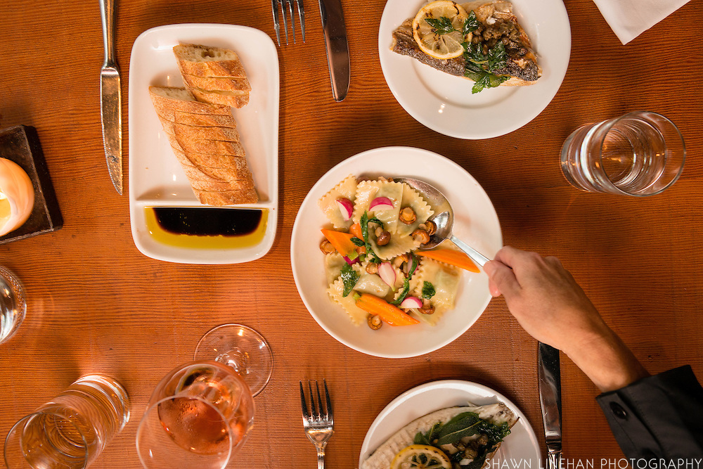 Staple & Fancy offers seasonal grilled fish and Agnolotti on every menu.