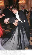 Gabriela Saurel ( U.S.A. )  & Sebastian Droulers dancing. 1998 Crillon Haute Couture Ball. Paris. 6/12/98<br />