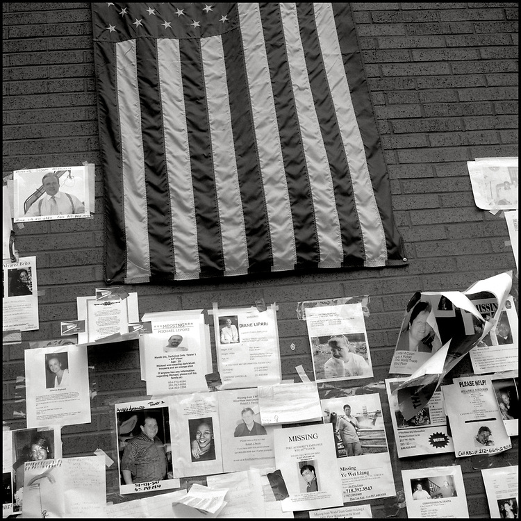 "In the days following the terrorist attack on The World Trade Center, ""Missing"" signs began popping up all over New York City, creating a city wide memorial."