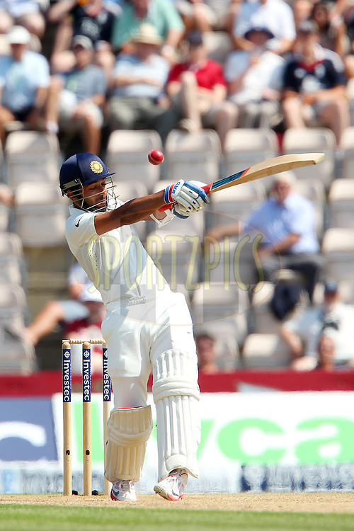 Ajinkya Rahane of India during day three of the third Investec Test Match between England and India held at The Ageas Bowl cricket ground in Southampton, England on the 29th July 2014<br /> <br /> Photo by Ron Gaunt / SPORTZPICS/ BCCI