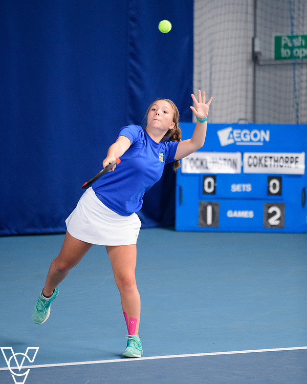 Aberdare Cup - Pocklington School - Isobella Byass<br /> <br /> Team Tennis Schools National Championships Finals 2017 held at Nottingham Tennis Centre.  <br /> <br /> Picture: Chris Vaughan Photography for the LTA<br /> Date: July 14, 2017