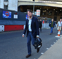© Licensed to London News Pictures. 09/07/2015. London, UK. SEBASTIAN COE committing in to Victoria Station. Commuters stranded at Victoria Station in London on the day of a network wide tube strike which finishes at 9.30 this evening. Photo credit: Ben Cawthra/LNP