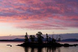 Dawn on Moosehead Lake in Rockwood Maine USA
