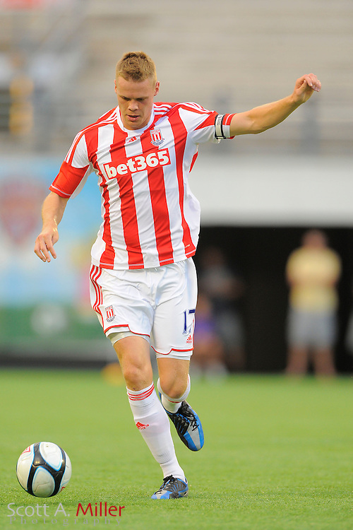 Stoke City Potters defender Ryan Shawcross (17) in action against the Orlando City Lions at the Florida Citrus Bowl on July 28, 2012 in Orlando, Florida. Stoke won 1-0...© 2012 Scott A. Miller.
