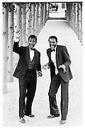 Old Etonions, Danny Matouu and Henry Matouu (nephews of the deposed President of Uganda, Godfrey Binaisa) 1981© Copyright Photograph by Dafydd Jones 66 Stockwell Park Rd. London SW9 0DA Tel 020 7733 0108 www.dafjones.com