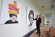 De succesvolle expositie &lsquo;Beeld van Beatrix&rsquo; is vanaf 12 juli 2013 te zien bij Paleis Soestdijk. De 68 bijzondere werken waren voorheen bij Paleis Het Loo tentoongesteld ter gelegenheid van de 75ste verjaardag van koningin Beatrix<br /> <br /> The successful exhibition 'Image of Beatrix' is from July 12, 2013 on display at the Royal Palace Soestdijk The 68 special works were previously exhibited at  Palace Het Loo on the occasion of the 75th birthday of Queen Beatrix<br /> <br /> Op de foto / On the photo:  Jan Altenburg directeur van Paleis Soestdijk